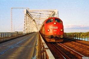 DSB MY 1104 med G 9152 Es-Rg. Km 82,0 Ng (Middelfart-Fredericia) 09.10.1992.