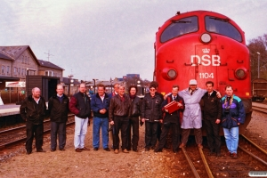 DSB MY 1104 overdrages til GM-Gruppen, Norge. Hjørring 17.04.1993.
