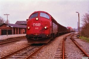 DSB MY 1110 med G 7851 Gr-Ar. Grenå 23.04.1993.