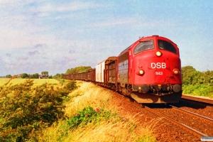 DSB MY 1143 med G 7966 Hj-Ab. Vrå 02.07.1993.