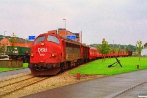 DSB MY 1120+Gs+S-tog+Gs. Randers 15.08.1993.