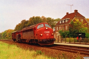 DSB MY 1116+Køf 290+Gs som M 8767 Ar-Næ. Skalbjerg 02.10.1993.