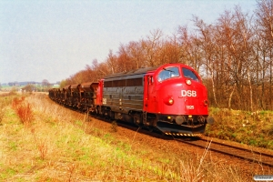 DSB MY 1125+17 Fcc/Fccs som G 8635 Vj-Jl. Km 102,2 Ho (Jelling-Grejsdal) 23.04.1994.