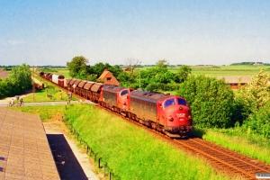 DSB MY 1150+MY 1119 med G 7734 Ho-Hr. Vildbjerg 20.06.1994.