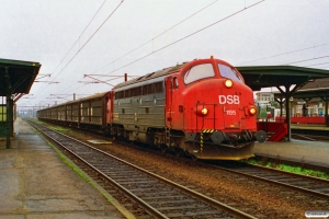 DSB MY 1155+9 Hbis som G 6641 Næ-Kø. Ringsted 27.11.1994.