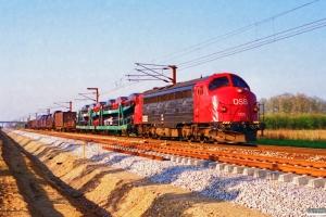 DSB MY 1125 med G 6615 Pa-Rq. Rødekro 01.05.1995.