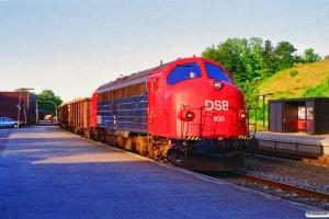 DSB MY 1150+Eaos+2 Snps som G 7915 Rd-Hb. Hobro 22.06.1995.