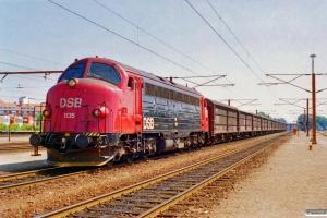 DSB MY 1135+13 Hbis som G 9105 Næ-Kø. Ringsted 08.07.1995.