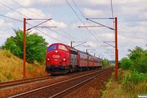 DSB MY 1147+Bab+B+BDn+Ba+Ba som IR 8435 Kø-Sk. Km 33,8 Ng (Odense-Holmstrup) 24.08.1995.