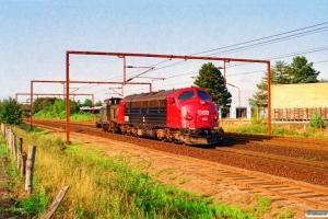 DSB MY 1132+MH 337 som M 7134 Fa-Od. Odense 26.08.1995.