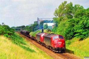 DSB MY 1148+MY 1156 med G 7734 Ho-Hr. Km 18,7 Ho (Avlum-Vildbjerg) 26.07.1996.