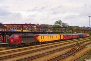 DSB MY 1131 foran vækstedsvogn 401+201+målevogn 003+002+WLABm 461+WRm 601+målevogn 001. Kolding 28.10.1996.