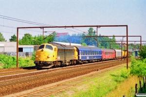DSB 90 86 00-21 108-4+WLABm 461+Målevogn 002+Habins-y 001+Rs+Hbis+Hbis som G 8631 Od-Oj. Odense 08.08.1997.