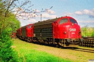 DSB MY 1142, MY 1143, MY 1138, MY 1125, MY 1127 og MY 1131 hensat. Vejle 03.05.1998.