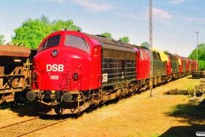 DSB MY 1155, MZ 1402, MZ 1424, MY 1147, MY 1151, MY 1148 og MY 1149 hensat. Vejle 13.05.1998.