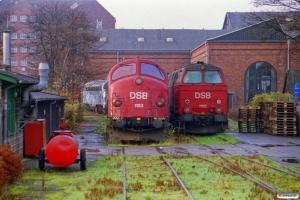DSB MY 1153 og MZ 1413 hensat. København 02.12.2000.