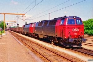 DSB MZ 1421+MZ 1429 med G 7366 Gb-Pa. Tinglev 28.06.1995.