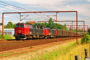 DSB MZ 1406+MZ 1451 med G 7445 Gb-År. Odense 20.08.1995.