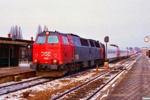 DSB MZ 1410+ER 11 som M 8156 Fa-Hgl. Nyborg 03.02.1996.