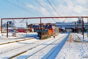 DSB Sneplov 145+MZ 1418 som M 6145 Od-Fa. Odense 20.02.1996.