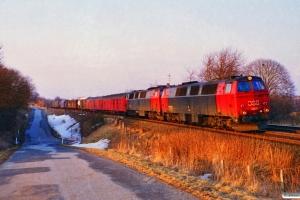 DSB MZ 1409+MZ 1414 med G 7452 Vj-Fa. Km 8,9 Fa (Fredericia-Børkop) 19.03.1996.