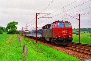 DSB MZ 1411 med IP 2186 Pa-Ar. Km 25,2 Fa (Kolding-Lunderskov) 23.06.1996.
