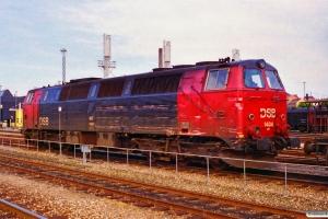 DSB MZ 1404. Skadet ved rangeruheld i Århus den 18/7. Århus 23.07.1996.
