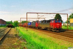DSB MZ 1415+EA 3018 med GD 42752 Pa-Gb. Odense 08.06.1997.