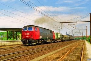 DSB MZ 1442 med G 9755 Gb-Kk. Sjælør 29.06.1997.