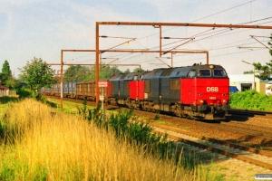 DSB MZ 1452+MZ 1453 med G 845752 Pa-Gb. Km 162,0 Kh (Odense-Holmstrup) 16.07.2000.