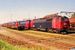 DSB MZ 1440, MZ 1437, MZ 1428, MZ 1436, MZ 1434, MZ 1429 og MZ 1431 hensat. Padborg 13.08.2000.