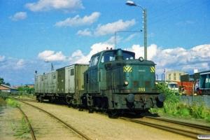 DSB MH 395+godsvogn fra Carlsberg. Odense 09.09.1987.