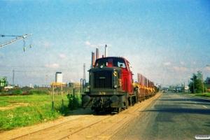DSB MH 376+godsvogne fra H.J. Hansen. Odense 02.10.1987.