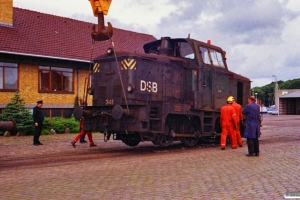 DSB MH 341 sporsættes. Odense 21.07.1988.