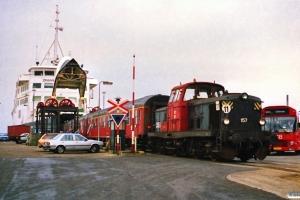 DSB MT 157. Nyborg Færge 08.04.1989.
