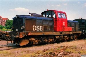 DSB MT 163 - Skadet ved påkørsel af lastbil i Møldrup 16/6-1989. Viborg 07.07.1989.