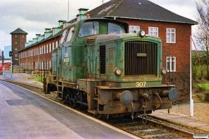 DSB MH 307. Fredericia 25.02.1990.