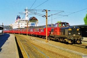 DSB MT 167 bag på PX 6319 Kh-Kø. Korsør 01.06.1997.
