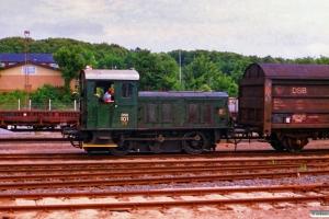 DSB Traktor 101. Hillerød 23.06.1988.