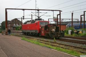 DSB Køf 285+DB 120 141-7. Padborg 29.07.2012.