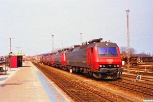 DSB EA 3007+EA 3017+ME 1528+ME 1533+MZ 1454. Nyborg 16.04.1996.