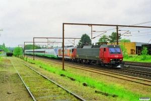 DSB EA 3018+FS D 445 1112+FS ETR 500 som M 6230 Pa-Kh. Odense 21.05.1997.