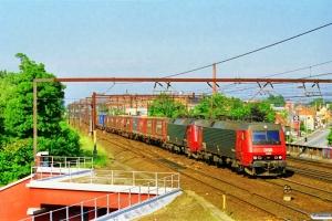 DSB EA 3008+EA 3011 med GD 44741 Gb-Pa. Roskilde 28.06.1997.