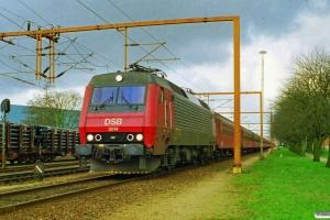 DSB EA 3014+20 personvogne - Til Iran - som G 8755 Rf-Pa. Padborg 19.03.1998.