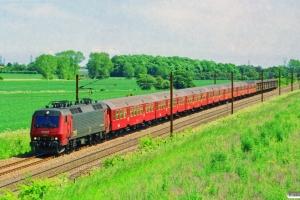 DSB EA 3005+6 Bn-o+ADns-e+6 Hbis-y som IR 6437 Kh-Od. Km 154,4 Kh (Marslev-Odense) 05.06.1998.