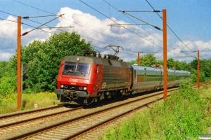 DSB EA 3005+SJ X31K 29 som M 8449 Hgl-Oj. Km 14,2 Fa (Taulov-Kolding) 27.08.2001.