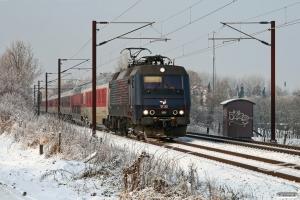 DSB EA 3022 med EN 472 Pa-Kh. Km 155,4 Kh (Marslev-Odense) 19.12.2010.