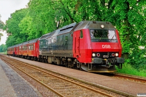 DSB ME 1513+Bn-v+Bn+ABns som Re 2449 Ro-Næ. Gadstrup 01.07.1991.