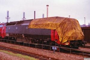 DSB ME 1525 - Skadet ved rangeruheld i Næstved 31/3-1993. Århus 17.04.1993.