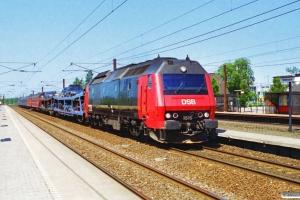 DSB ME 1516 med IP 13282 Rf-Kk. Hedehusene 03.07.1994.
